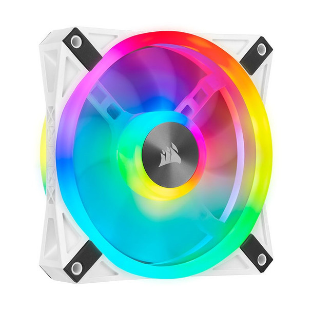 Corsair iCUE QL120 RGB White 120mm PWM Fan - Three Pack with Lighting Node CORE Product Image 17