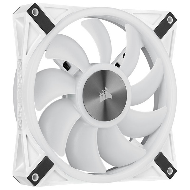 Corsair iCUE QL140 RGB White 140mm PWM Fan - Dual Pack with Lighting Node CORE Product Image 4