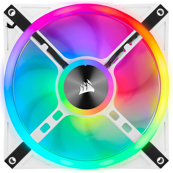Corsair iCUE QL140 RGB White 140mm PWM Fan - Dual Pack with Lighting Node CORE Product Image 7