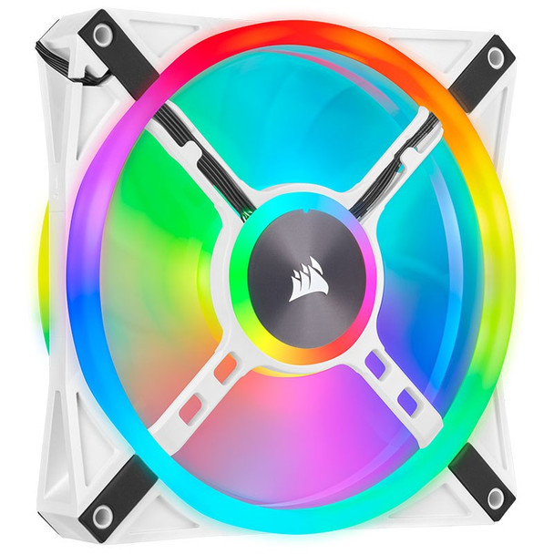 Corsair iCUE QL140 RGB White 140mm PWM Fan - Dual Pack with Lighting Node CORE Product Image 9