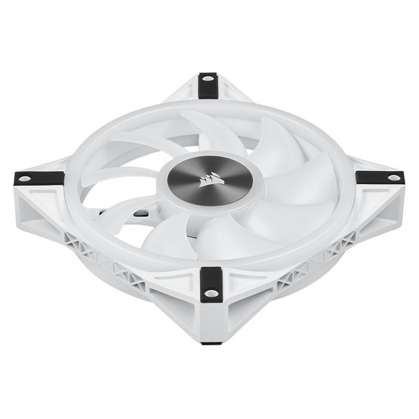 Corsair iCUE QL140 RGB White 140mm PWM Fan - Dual Pack with Lighting Node CORE Product Image 12