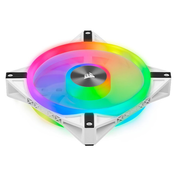 Corsair iCUE QL140 RGB White 140mm PWM Fan - Dual Pack with Lighting Node CORE Product Image 13