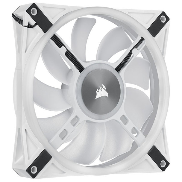 Corsair iCUE QL140 RGB White 140mm PWM Fan - Dual Pack with Lighting Node CORE Product Image 14