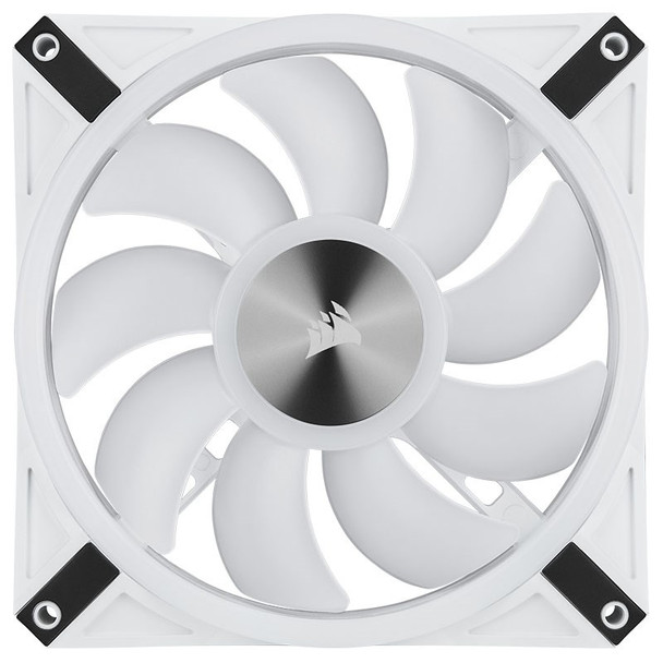 Corsair iCUE QL140 RGB White 140mm PWM Fan - Dual Pack with Lighting Node CORE Product Image 17