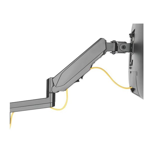 Brateck Single Screen Wall-Mounted Gas Spring Monitor Arm 17in-32in - Black Product Image 4