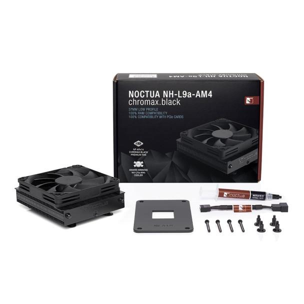 Noctua NH-L9a-AM4 AMD Low Profile CPU Cooler - Chromax Black Product Image 2
