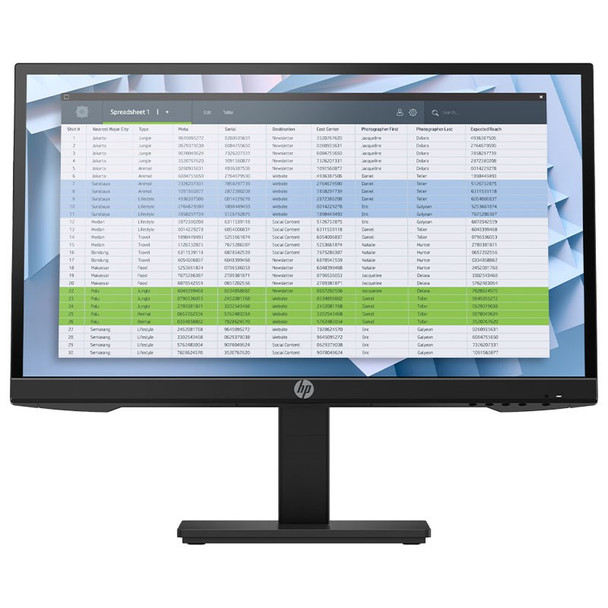 Image for HP P22h G4 21.5in Full HD Anti-Glare Business IPS Monitor AusPCMarket