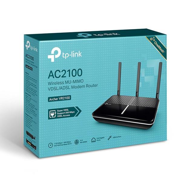 TP-Link Archer VR2100 AC2100 MU-MIMO VDSL/ADSL Modem Router Product Image 3