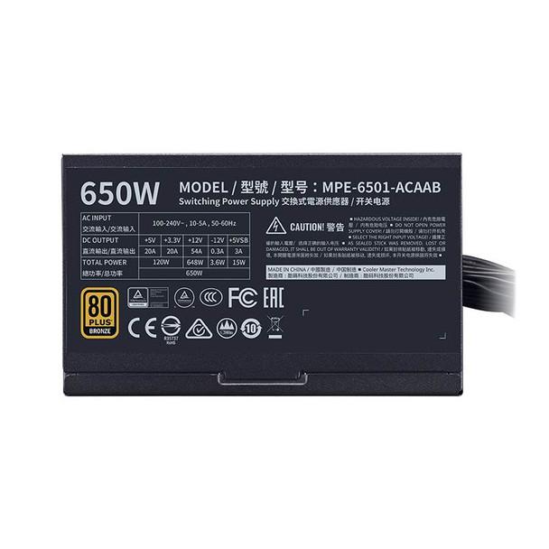 Cooler Master MWE V2 650W 80+ Bronze Non-Modular Power Supply Product Image 6