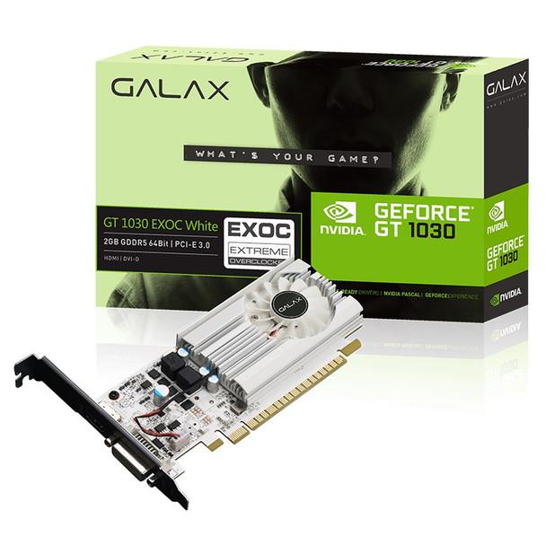 Image for Galax GeForce GT 1030 EX OC White 2GB Video Card AusPCMarket