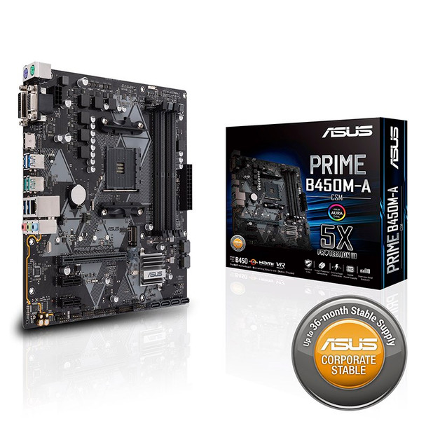Asus Prime B450M-A/CSM AM4 Micro-ATX Motherboard Product Image 5