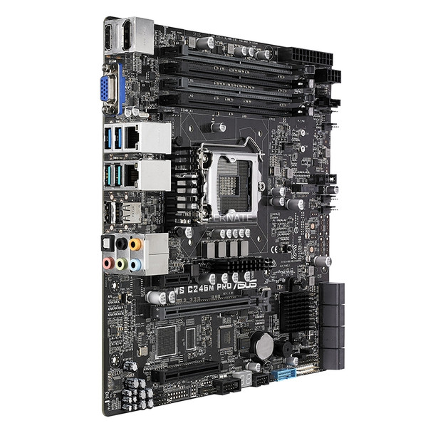 Asus WS C246M PRO LGA1151 ATX Workstation Motherboard Product Image 2