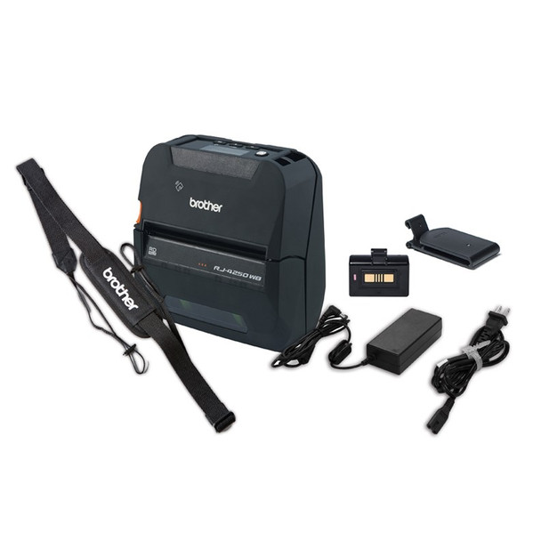 Brother RJ-4250B-Bundle-Pack 102mm Mobile Wireless Receipt/Label Printer Product Image 3