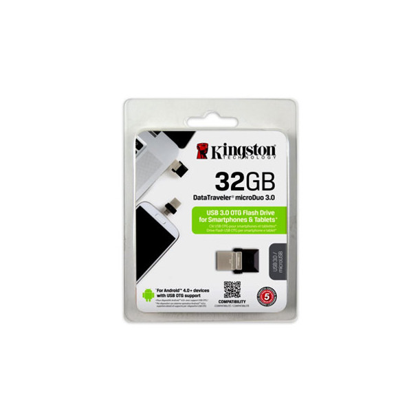 Kingston DataTraveler microDuo 32GB USB 3.0 Flash Drive with micro USB OTG Product Image 3