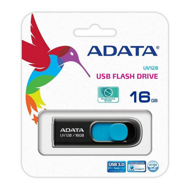 Adata 16GB UV128 DashDrive USB 3.0 Flash Drive - Blue Product Image 5