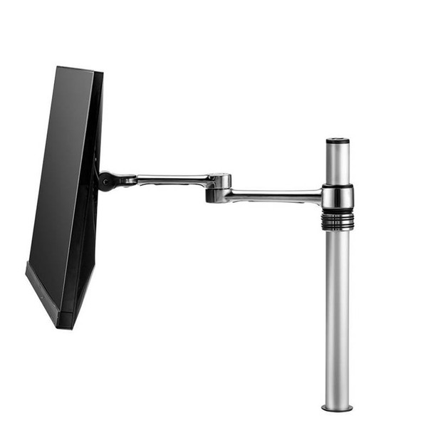 Atdec AF-AT Single Pole Articulated Arm Stand - Silver Product Image 2