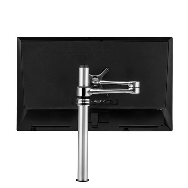 Atdec AF-AT Single Pole Articulated Arm Stand - Silver Product Image 3