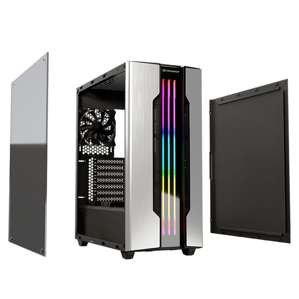 Cougar Gemini S RGB Tempered Glass Mid-Tower ATX Case - Silver Product Image 6