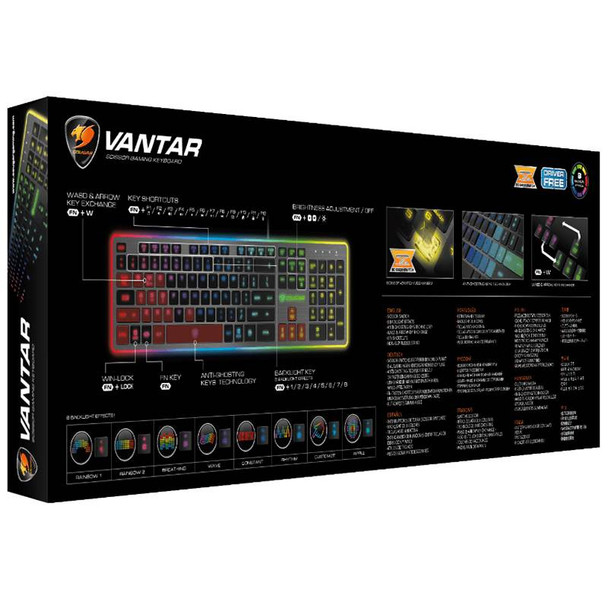 Cougar Vantar Scissor Switch Gaming Keyboard Product Image 2