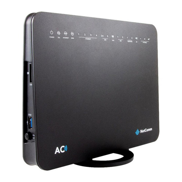 Netcomm NL1901ACV Dual Band AC1600 4G LTE Hybrid Gateway Router with VoIP Product Image 2