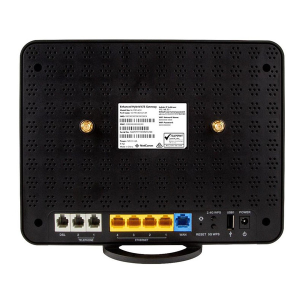 Netcomm NL1901ACV Dual Band AC1600 4G LTE Hybrid Gateway Router with VoIP Product Image 3