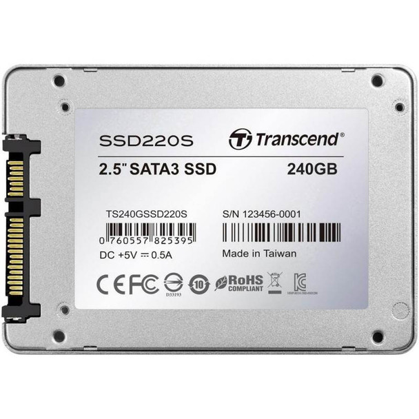 Transcend SSD220 240GB 2.5in SATA3 SSD TS240GSSD220S Product Image 5
