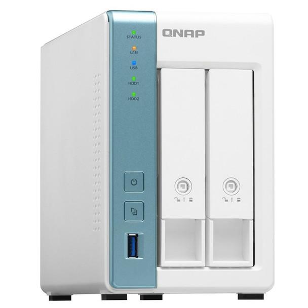 QNAP TS-231K 2 Bay Turbo NAS Alpine AL-214 Quad Core 1.7GHz CPU 1GB RAM Product Image 3