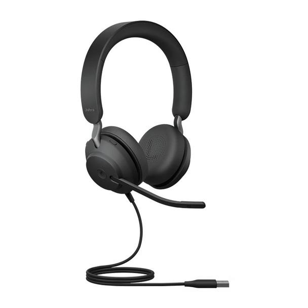 Jabra Evolve2 40 UC USB-A Stereo Headset - Black Product Image 3