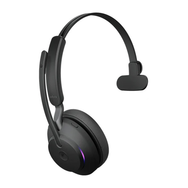 Jabra Evolve2 65 MS Mono USB Bluetooth Headset (inc Charging Stand) - Black Product Image 3