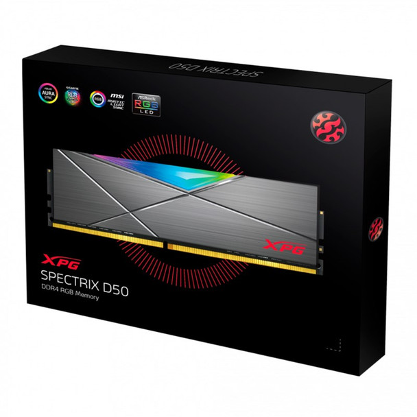 Adata XPG Spectrix D50 32GB (2x 16GB) DDR4 3600MHz RGB Memory - Tungsten Grey Product Image 4
