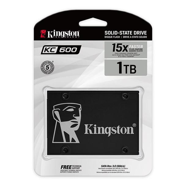 Kingston KC600 1024GB 2.5in 3D TLC NAND SATA SSD SKC600/1024G Product Image 2