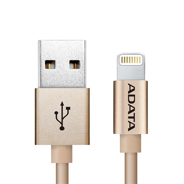 Image for Adata Lightning USB Data Sync/Charge Cable Aluminium - Gold AusPCMarket