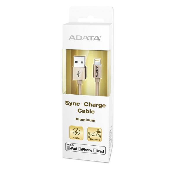 Adata Lightning USB Data Sync/Charge Cable Aluminium - Gold Product Image 3