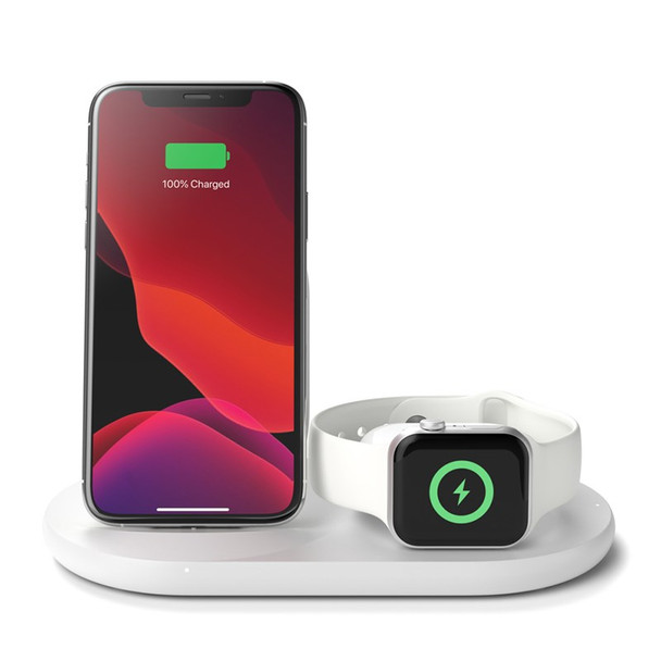 Belkin Boost Charge 3-in-1 Wireless Charging Dock for Apple Devices - White Product Image 2