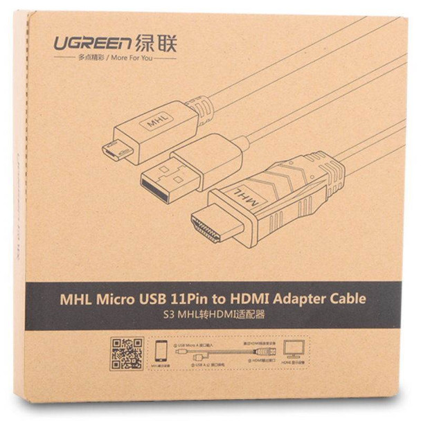 UGreen 20139 2M MHL Micro USB 11 Pin to HDMI Adapter Cable Product Image 5