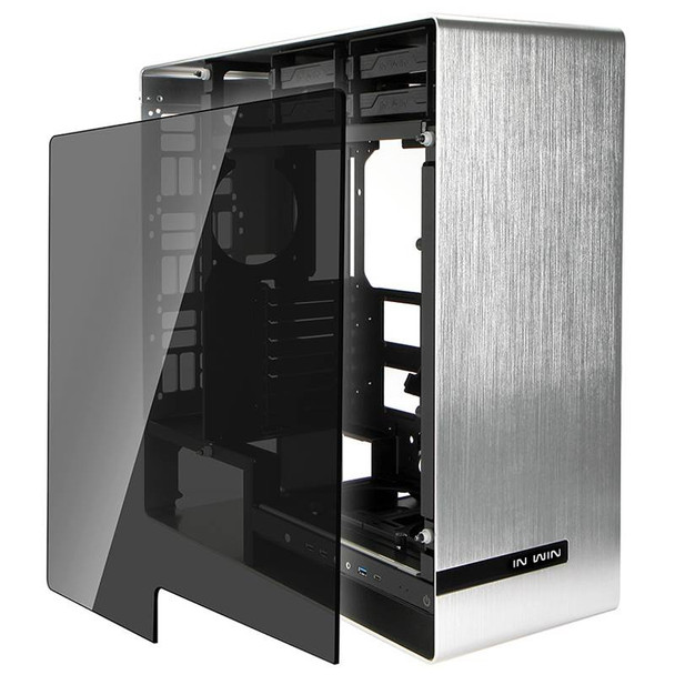 In Win 909 Tempered Glass Full-Tower E-ATX Case - Silver Product Image 3