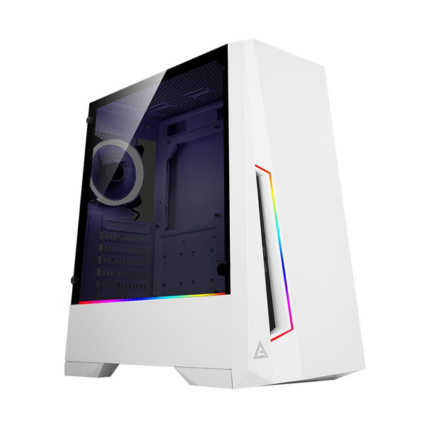Image for Antec DP501 ARGB Tempered Glass Mid-Tower ATX Case - White AusPCMarket