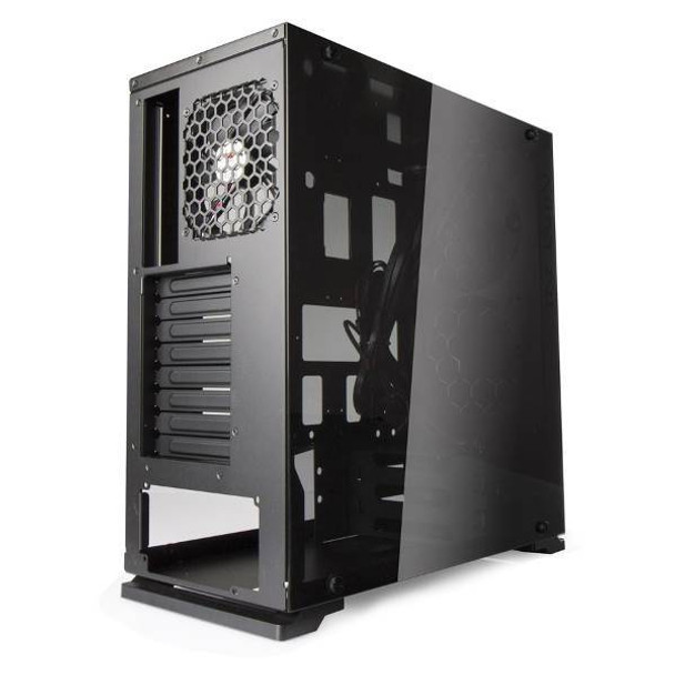 In Win 805C Tempered Glass Mid-Tower ATX Case - Black/Red Product Image 4