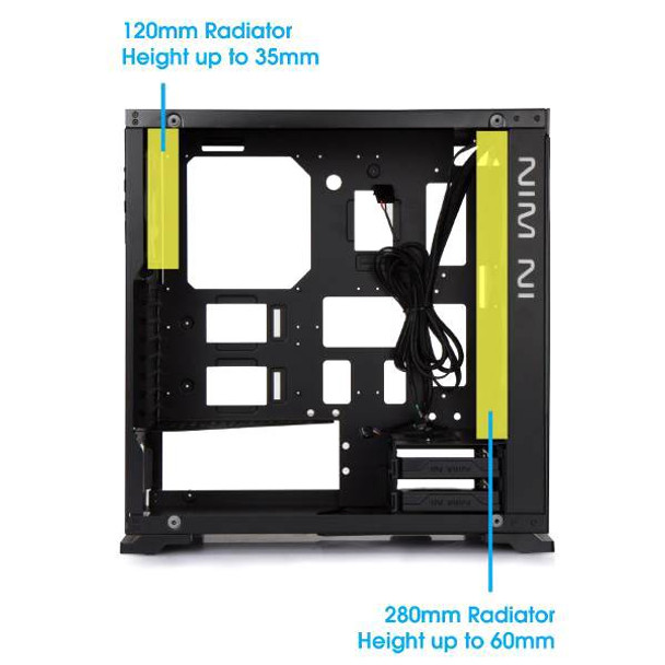 In Win 805C Tempered Glass Mid-Tower ATX Case - Black/Red Product Image 7