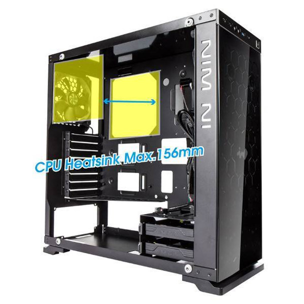 In Win 805C Tempered Glass Mid-Tower ATX Case - Black/Red Product Image 8