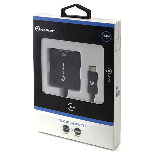 Alogic 15cm USB-C to DVI Adapter Black Product Image 2