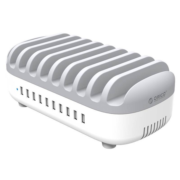 Orico 120W 10 Ports USB Smart Charging Station with Phone & tablet Stand Product Image 2