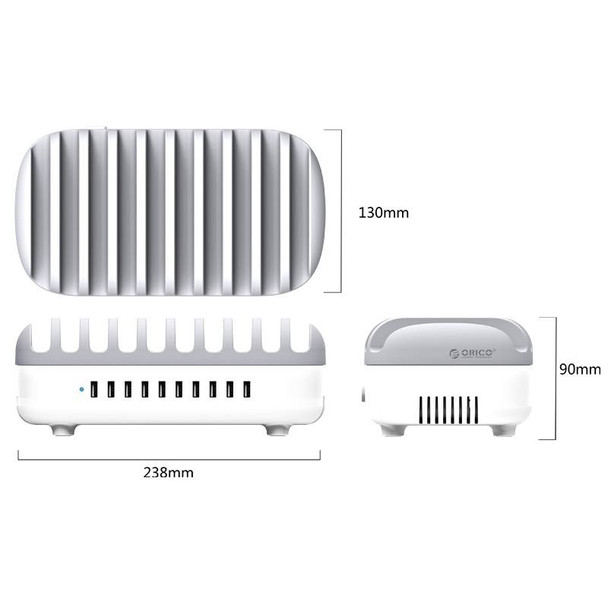 Orico 120W 10 Ports USB Smart Charging Station with Phone & tablet Stand Product Image 3