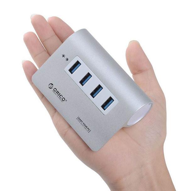 Orico M3H4-SV 4-Port Super-Speed USB 3.0 Hub - Silver Product Image 2