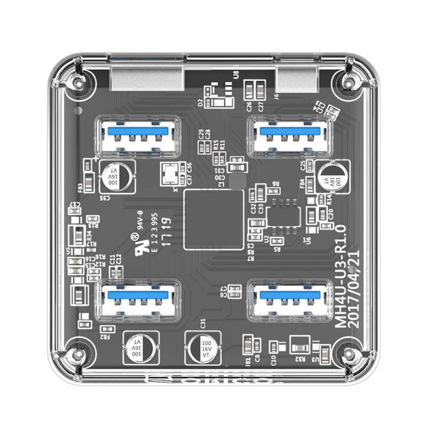 Orico USB3.0 Transparent Desktop Hub Product Image 4