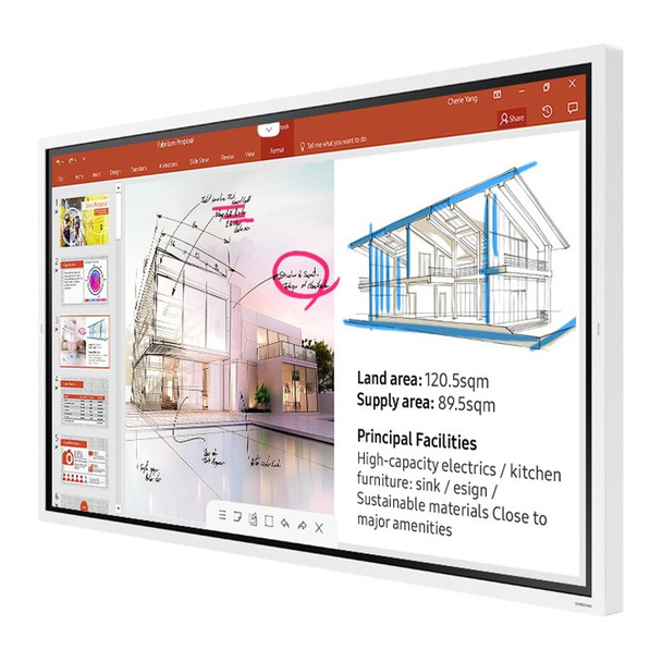 Image for Samsung Flip WM65R 65in 4K UHD Interactive InGlass Smart Digital FlipChart AusPCMarket