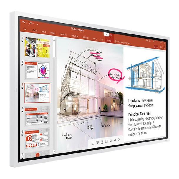 Samsung Flip WM65R 65in 4K UHD Interactive InGlass Smart Digital FlipChart Product Image 7