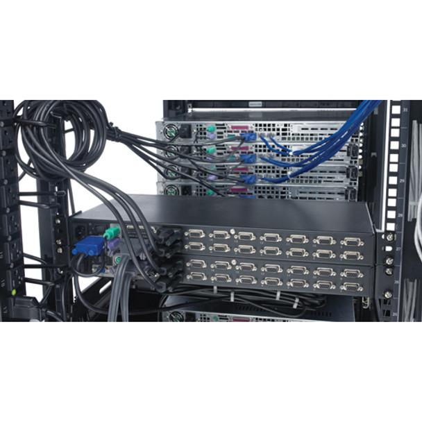 APC 8 Port Multi-Platform Analog KVM - KVM switch - PS/2 - 8 ports - 1 local use Product Image 3