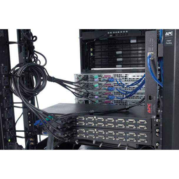 APC 8 Port Multi-Platform Analog KVM - KVM switch - PS/2 - 8 ports - 1 local use Product Image 5