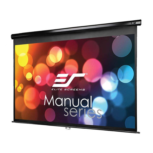 Image for Elite Screens Manual 128in 16:10 Pulldown Projection Screen - Black AusPCMarket